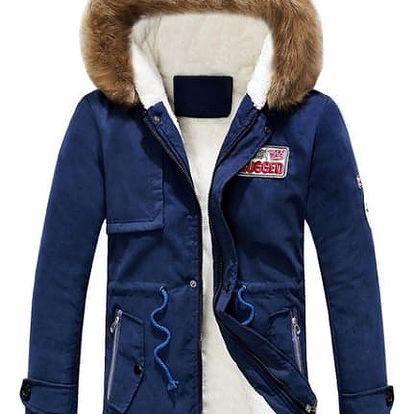 Pánská zateplená bunda Calvin - Modrá-L - dodání do 2 dnů