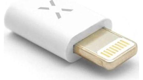 FIXED MicroUSB - Lightning (iOS 12.x a nižší) bílá (FIXA-MTOL-WH)