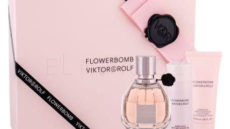 Viktor & Rolf Flowerbomb dárková kazeta pro ženy parfémovaná voda 50 ml + sprchový gel 50 ml + tělový krém 40 ml