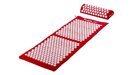 MOVIT 43073 Akupresurní podložka s polštářem 130 x 50 cm - červená