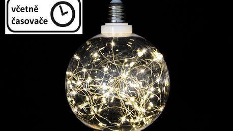 Nexos 57385 Vánoční dekorace - žárovka - 80 LED teple bílá