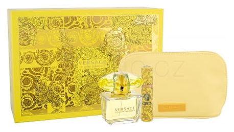 Versace Yellow Diamond dárková kazeta pro ženy toaletní voda 90 ml + toaletní voda 10 ml + kosmetická taška