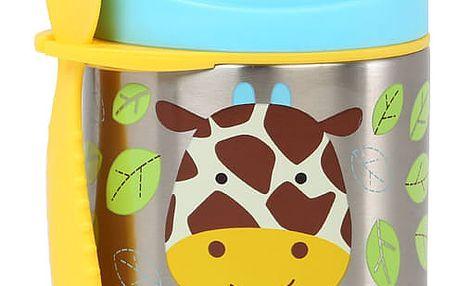 SKIP HOP Zoo Termoska na jídlo s vidličkou – Žirafa