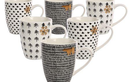 Altom Sada porcelánových hrnků Nordic Winter 340 ml, 6 ks