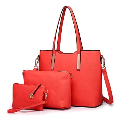SET: Dámská červená kabelka Ariana 6648
