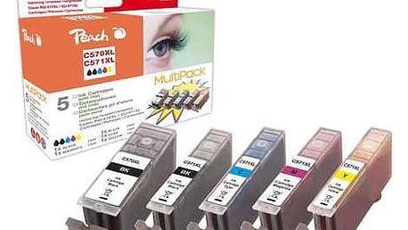Peach Canon PGI-570XL/CLI-571XL, 975 stran, černá/červená/modrá/žlutá (319855)