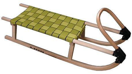 CorbySport 05-A2041 Sáně 110cm dřevěné - žluté