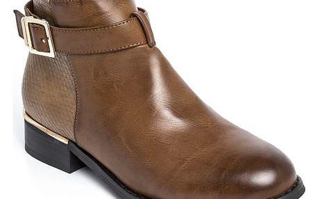 Dámské hnědé kotníkové boty Halsey 124