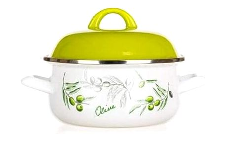 Banquet Kastrol smaltovaný Olives 18 cm , 18 cm