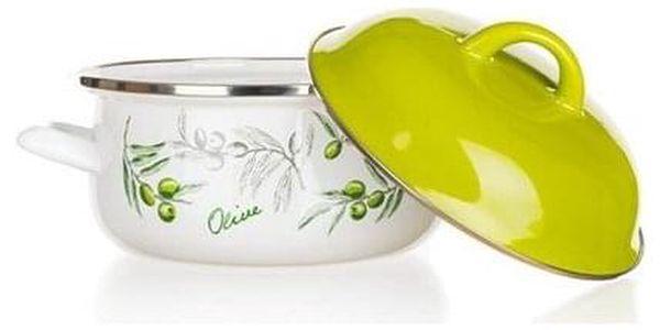 Banquet Kastrol smaltovaný Olives 18 cm , 18 cm2