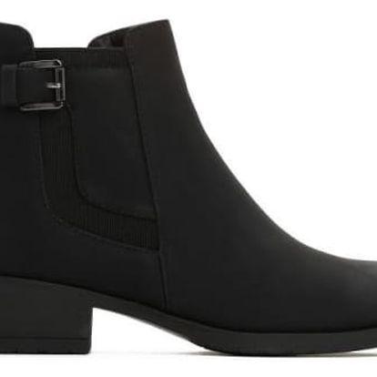 Dámské černé matné kotníkové boty Miracle 045a