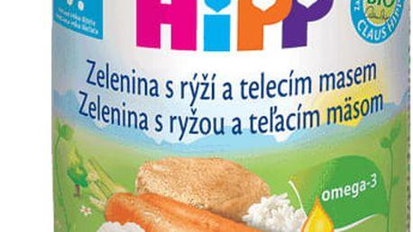 6x HIPP BIO zelenina s rýží a telecím masem (220 g) - maso-zeleninový příkrm
