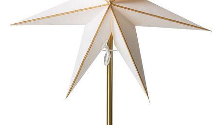 watt & VEKE Stolní lampa Linje Gold/Kalix gold, bílá barva, zlatá barva, kov, papír