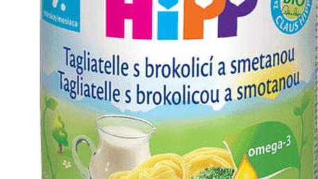 6x HIPP BIO Těstoviny se zeleninou a smetanou (220 g) - zeleninový příkrm