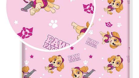 Jerry Fabrics Dětské bavlněné prostěradlo Paw Patrol 122, 90 x 200 cm