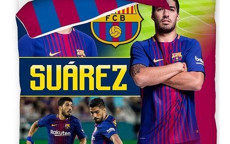 CarboTex Bavlněné povlečení FC Barcelona Suárez, 140 x 200 cm, 70 x 80 cm