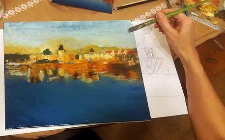 Jedna lekce, 2denní kurz nebo 7týdenní kurz s australským malířem v Praze