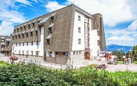 Krkonoše na vrcholu Černé hory u vleku