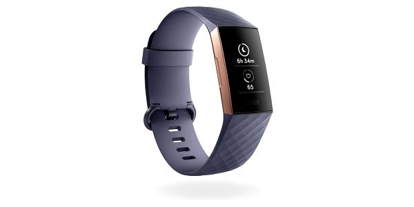 Fitness náramek Fitbit Charge 3 - Rose Gold, Blue Grey (FB409RGGY-EU)2