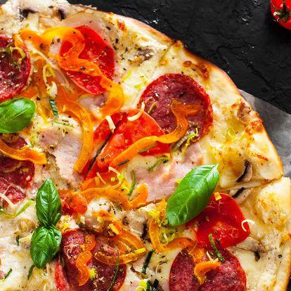2 pizzy dle výběru s sebou či s možností rozvozu