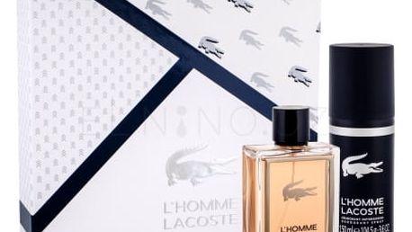 Lacoste L´Homme Lacoste dárková kazeta pro muže toaletní voda 100 ml + deodorant 150 ml
