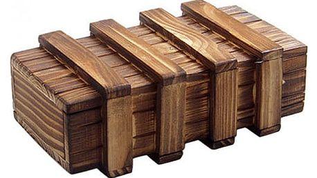 Dřevěný hlavolam - tajemná krabička