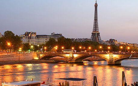 Zájezd pro 1 osobu do romantické Paříže, projížďka po Seině, Versailles, Eiffelova věž.