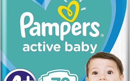 PAMPERS Active Baby 4+ (10-15 kg) 70 ks GIANT PACK – jednorázové pleny