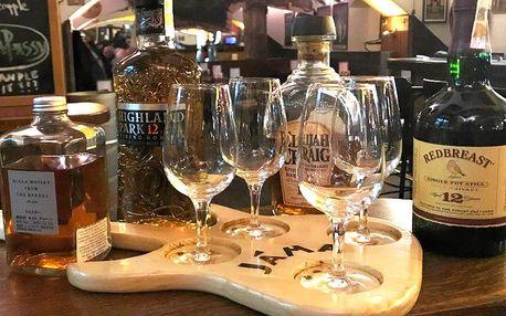 Degustace 4 druhů whisky a BBQ žebra pro dva