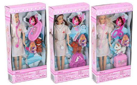 Teddies 55969 Panenka doktorka s doplňky plast kloubová 29cm
