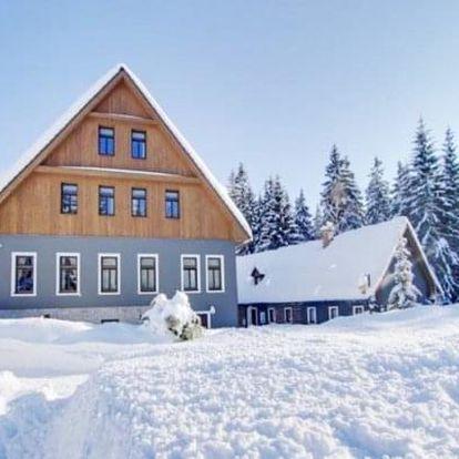 Jizerské hory jen 190 m od ski areálu