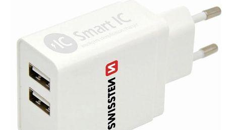 Swissten 2x USB 3,1A bílá