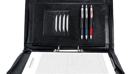 Spokey Obchodní složka/diplomatka Guriatti CLASSIC se zipem A4-B-01 černá