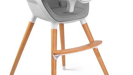 KINDERKRAFT Jídelní židlička Fini – Grey