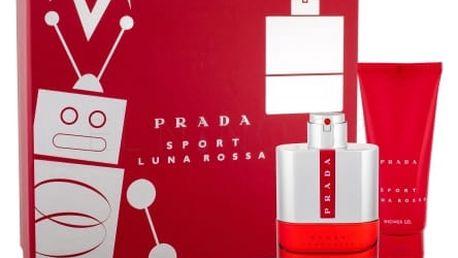 Prada Luna Rossa Sport dárková kazeta pro muže toaletní voda 100 ml + sprchový gel 100 ml