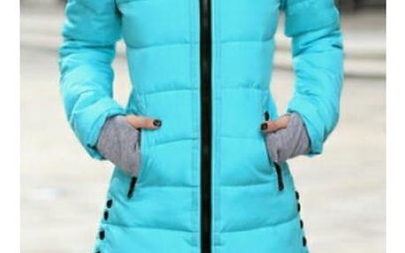 Prošívaná zimní bunda Pia - Světle modrá - velikost č. M - dodání do 2 dnů