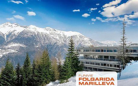 Lyžování Itálie, Skirama Dolomiti Adamello Brenta - Hotel Sole Alto - 5denní lyžařský balíček se skipasem a dopravou v ceně
