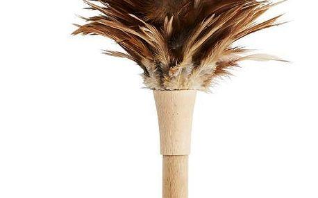MADAM STOLTZ Prachovka Feathers, hnědá barva, přírodní barva, dřevo