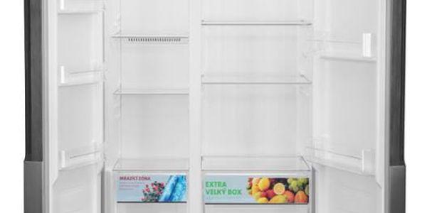 Americká lednice ETA 138890010 stříbrná4