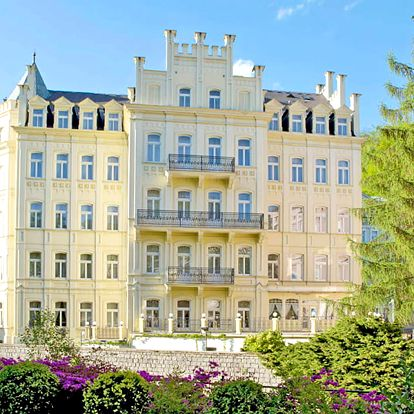 Bohémské Karlovy Vary ve 4* hotelu přímo v centru s neomezenou saunou, procedurami a polopenzí