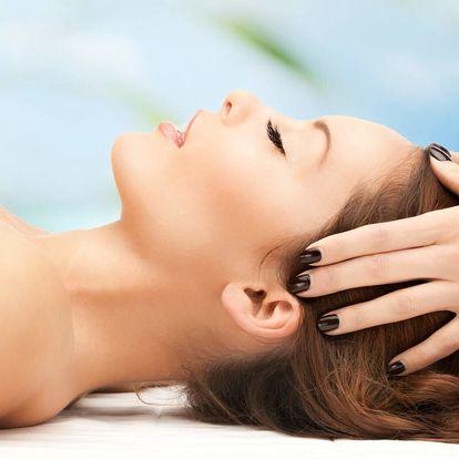 Masáž dekoltu, obličeje a hlavy v délce 50 minut