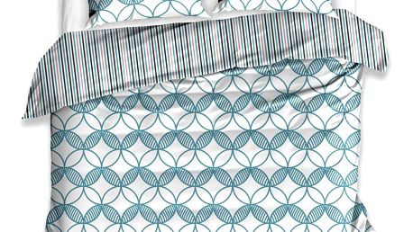 TipTrade Bavlněné povlečení Minta petrolejová, 140 x 200 cm, 70 x 90 cm