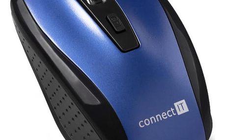 Connect IT CI-1225 modrá / optická / 4 tlačítka / 1600dpi (CI-1225)