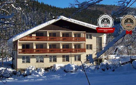 Oceněný hotel U Studánky v Beskydech s polopenzí a wellness