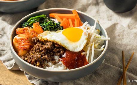 Korejská polévka a bibimbap pro 1 i 2 osoby
