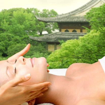 Masáž hlavy, obličeje, krku, dekoltu i rukou