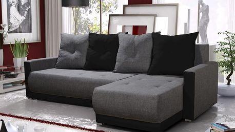 Rohová sedačka INSIGNIA BIS 11, šedá/černá