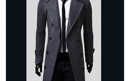 Pánský kabát Giorgio - Šedá-M - dodání do 2 dnů