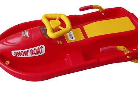CorbySport Snow Boat 28142 Řiditelný bob - červený