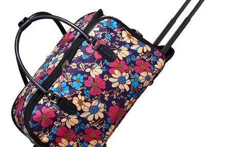 Dámská barevná cestovní taška Flower 0012